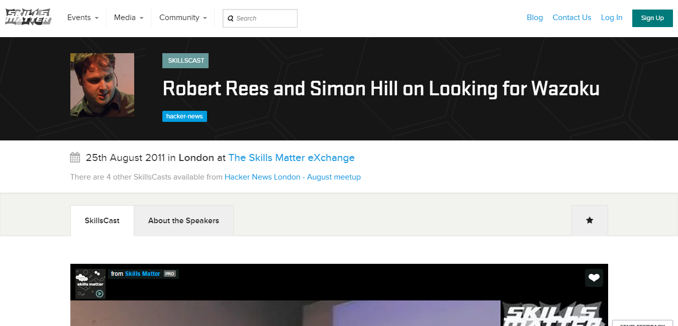 Robert Rees and Simon Hill on Looking for Wazoku   SkillsCast   25th August 2011