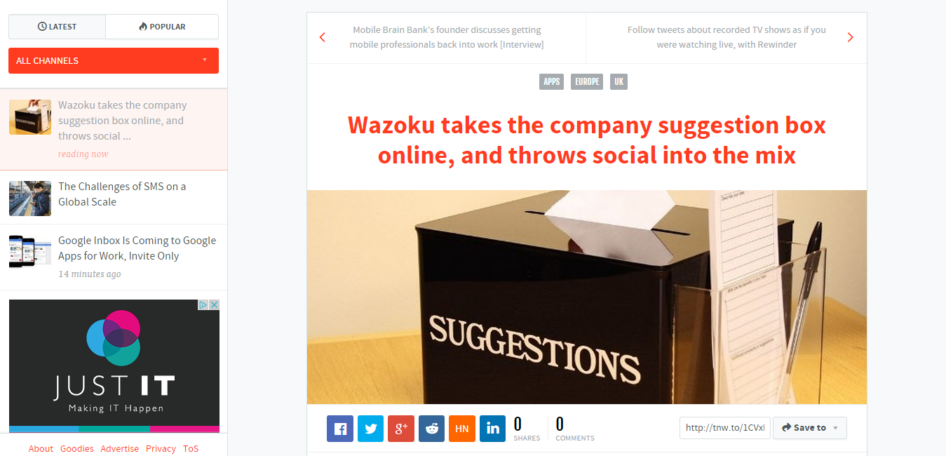 Wazoku takes the company suggestion box online  and throws social into the mix