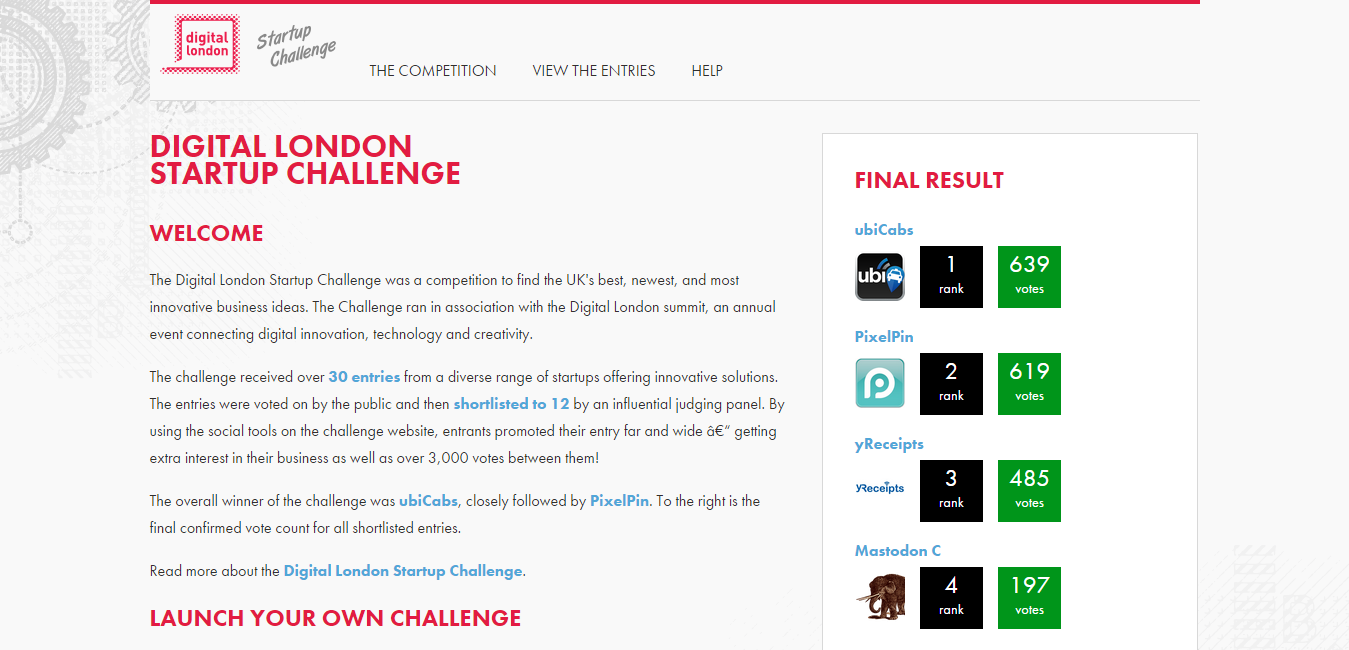 Digital London Startup Challenge
