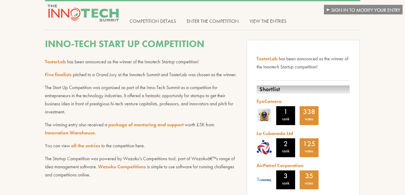 Inno Tech Start Up Competition