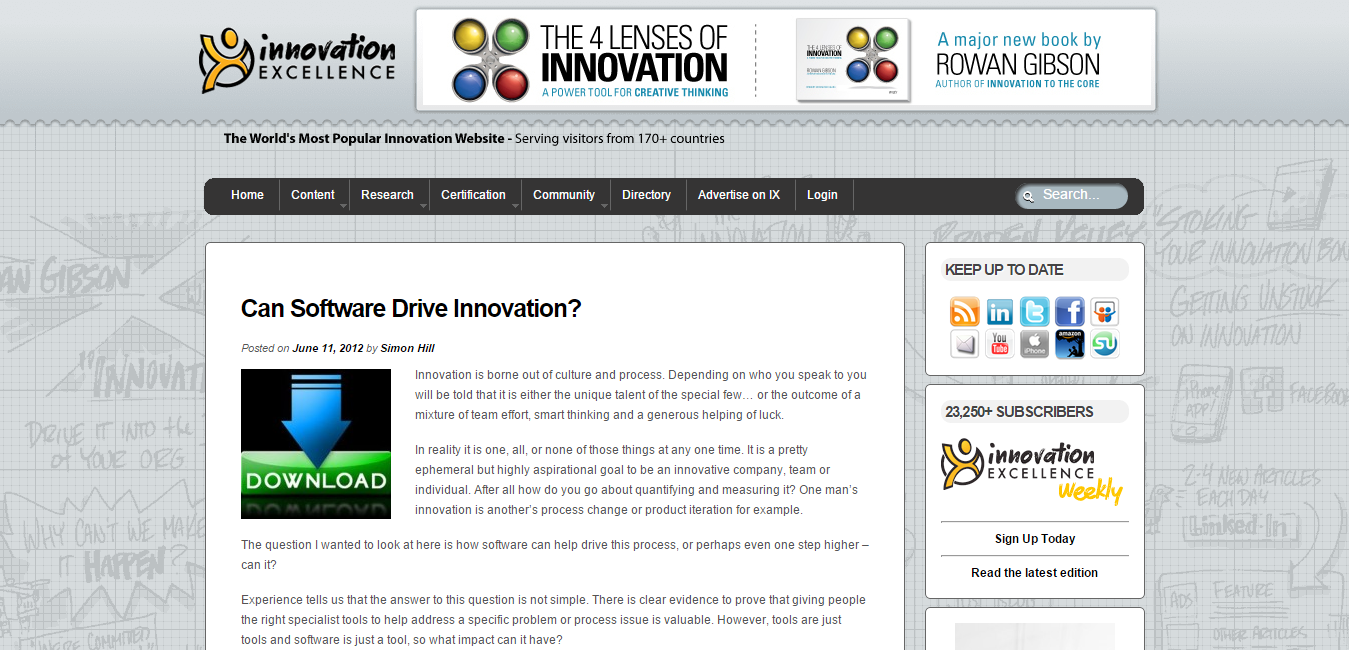 Innovation Excellence   Can Software Drive Innovation