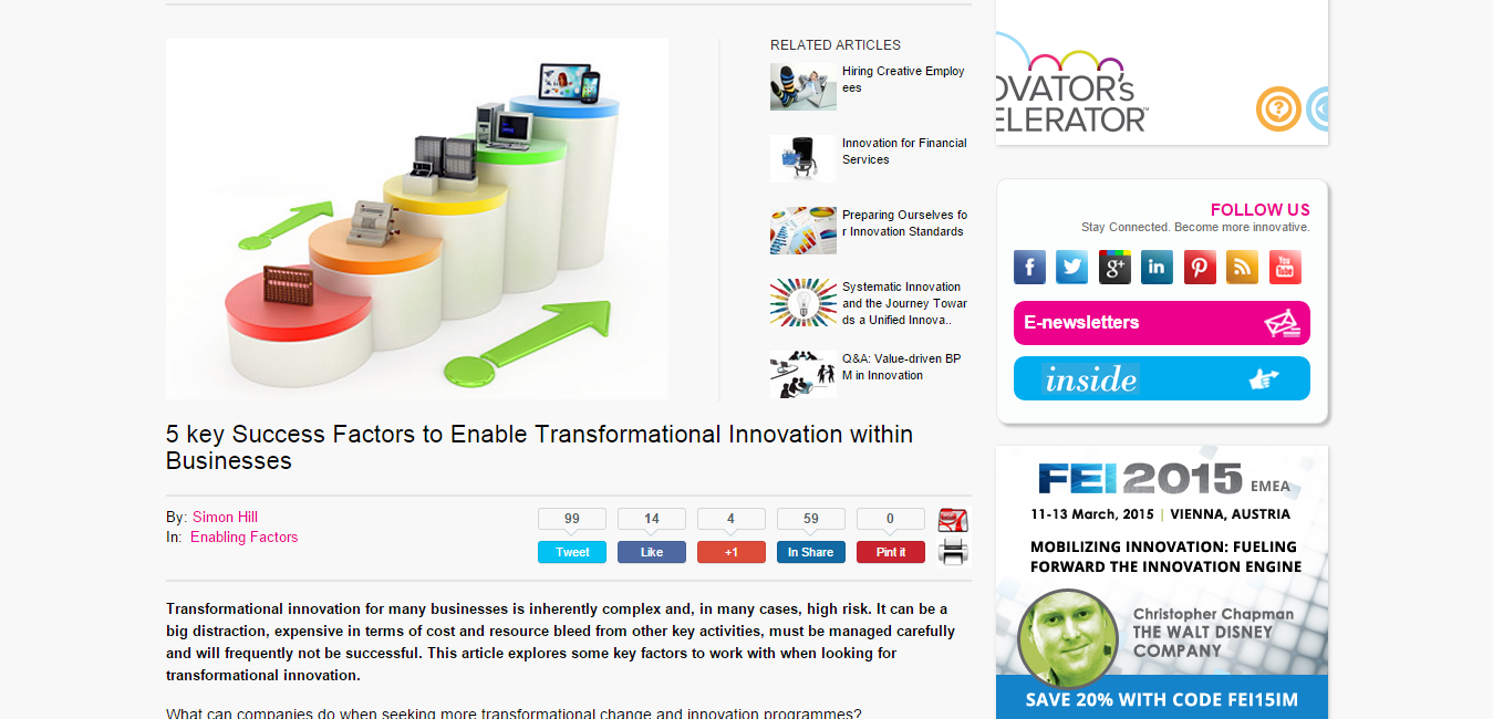 5 key Success Factors to Enable Transformational Innovation within Businesses   Innovation Management