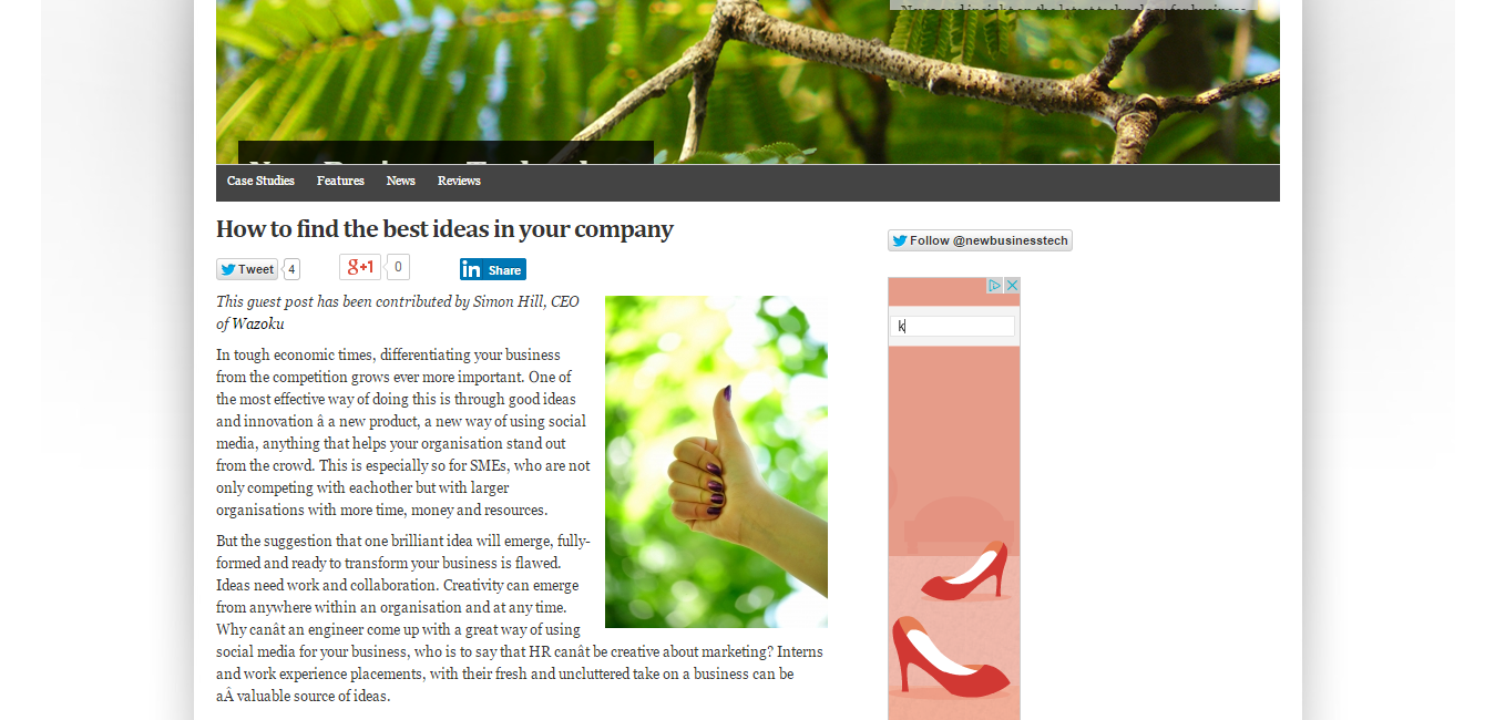 How to find the best ideas in your company   New Business Technology