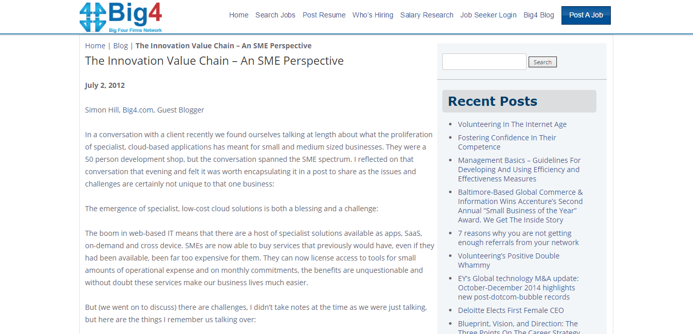 The Innovation Value Chain   An SME Perspective