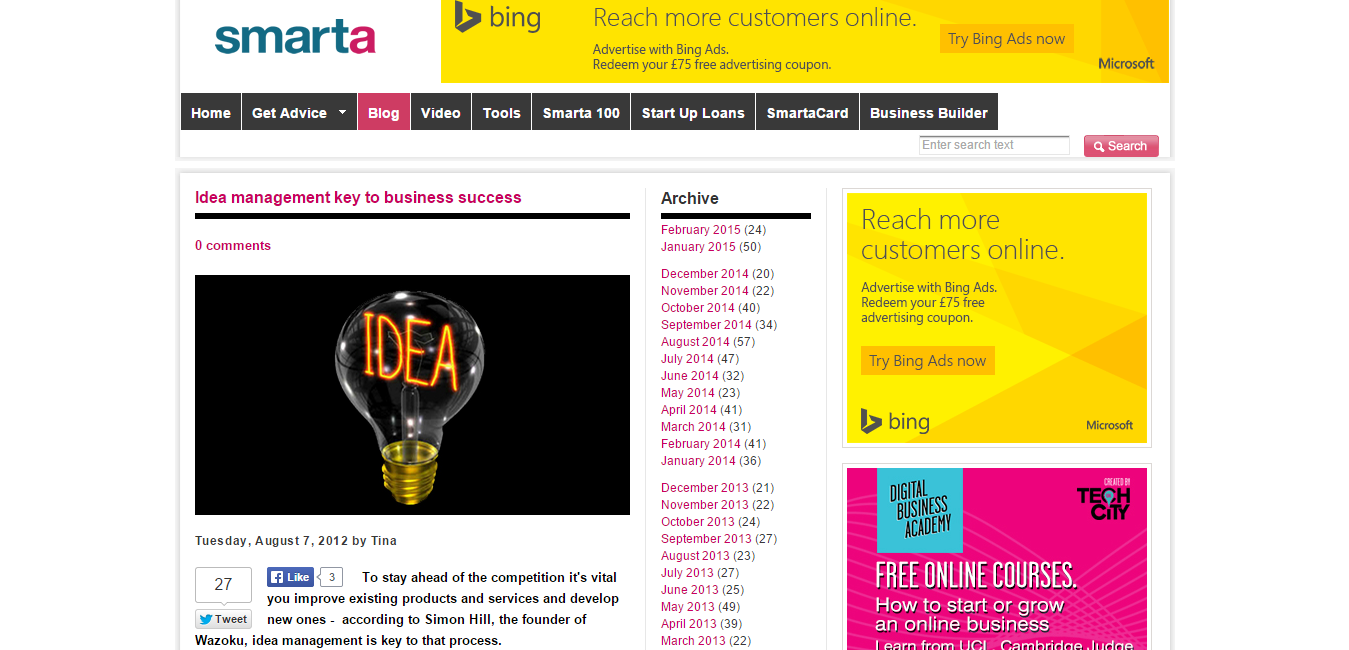 Idea management key to business success   Smarta