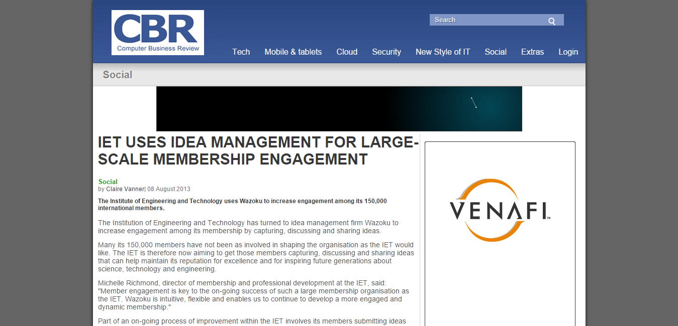 IET uses idea management for large scale membership engagement   Computer Business Review