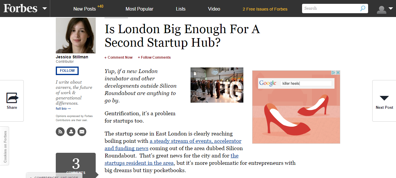 Is London Big Enough For A Second Startup Hub