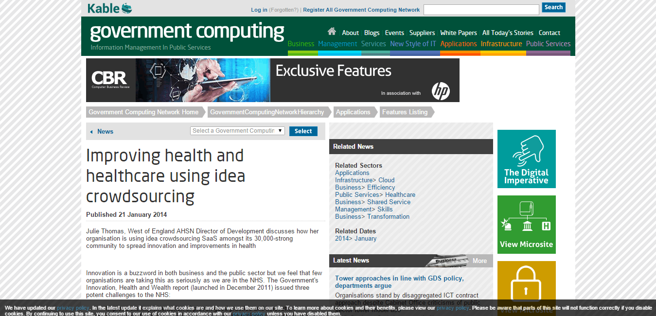 Improving health and healthcare using idea crowdsourcing   Government Computing Network