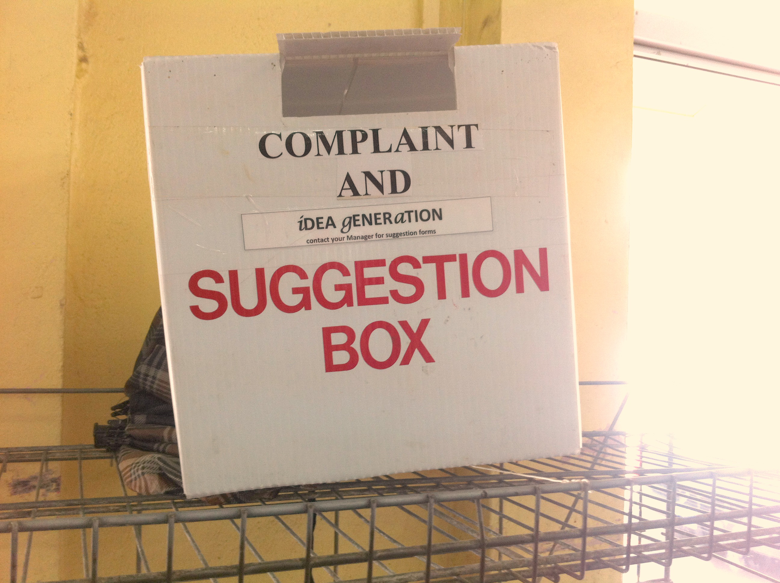 The best suggestion box in the world