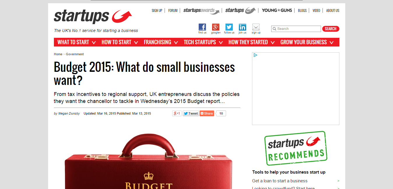 What do Small Businesses Want - Startups