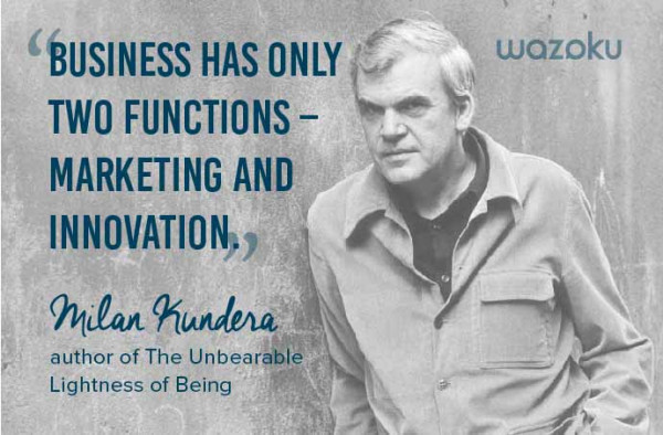 Innovation quote Milan Kundera, author of The Unbearable Lightness of Being