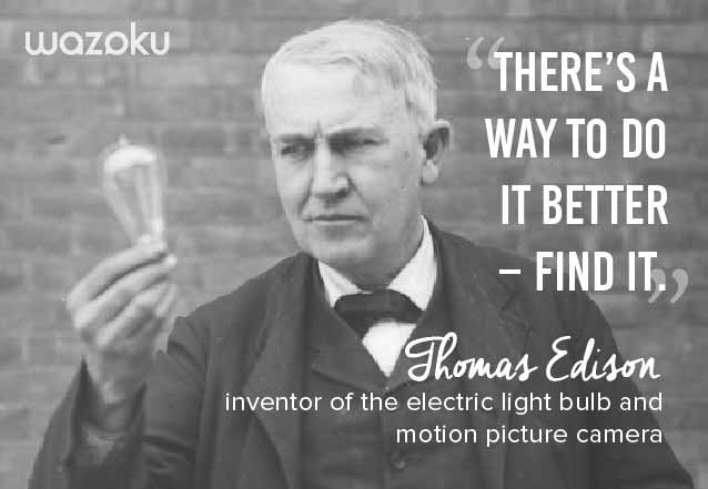 Innovation quote from Thomas Edison