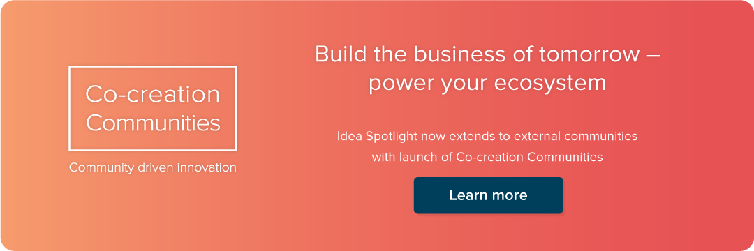 Idea Spotlight plug-in: Co-creation Communities