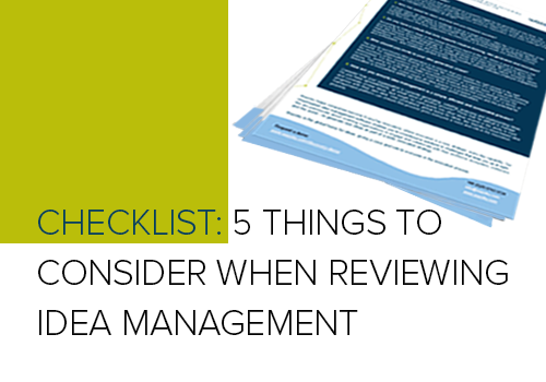 5 Things to Consider When Reviewing Idea Management