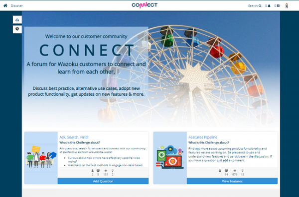 Connect Homepage