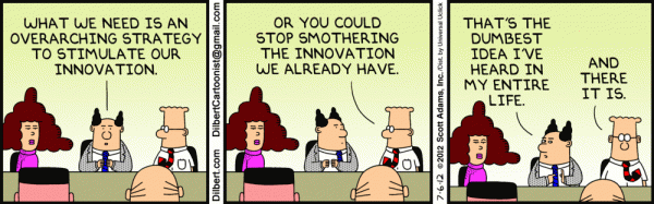 10 Steps from idea generation to implementation -Dilbert