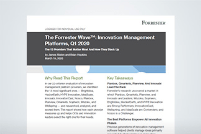 Forrester Wave Report Q1 2020